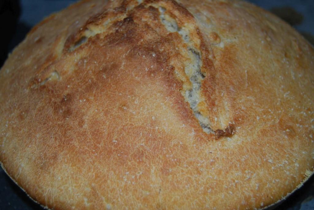 pâine-la-ceaun-fără-frământare